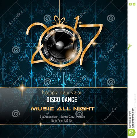 new years end 2017 happy new year disco background for your flyers