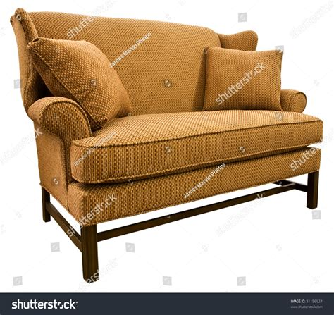 wooden settee legs chippendale settee loveseat with cherry wood legs stock