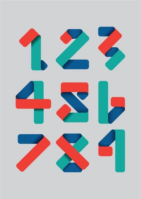typography numbers design 25 best ideas about number typography on