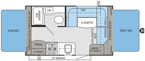 trailer floor plans 17 foot travel trailer floor plans tent idea