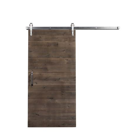 Sliding Barn Door Home Depot Rustica Hardware 42 In X 84 In Mountain Modern Wood Barn Door With Sliding Door Hardware Kit