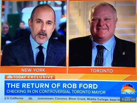 rob ford toronto mayor on matt lauers today show no ford storms out on drug use questions st catharines