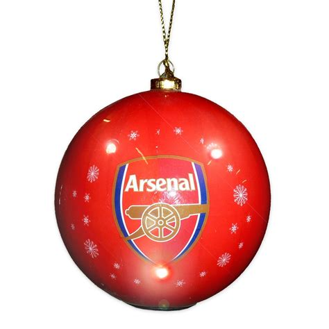 arsenal xmas arsenal fc official gift boxed flashing bauble christmas