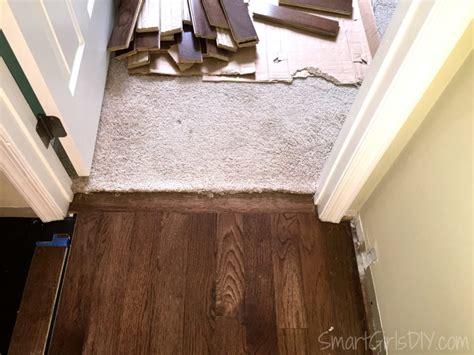 upstairs hallway installing hardwood floors and bedrooms