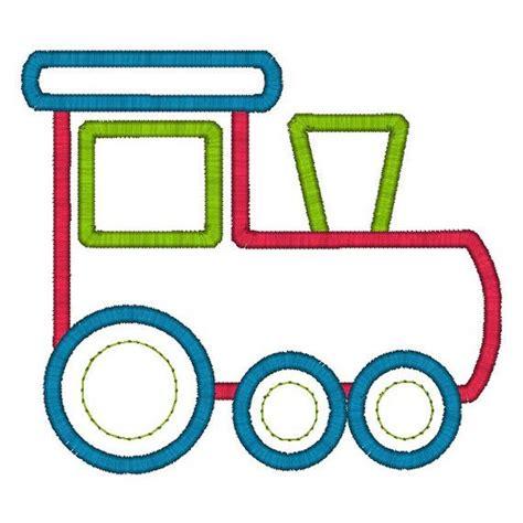 embroidery design train train applique machine embroidery design instant download