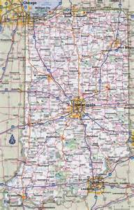 Indiana State Road Map by Large Detailed Roads And Highways Map Of Indiana State