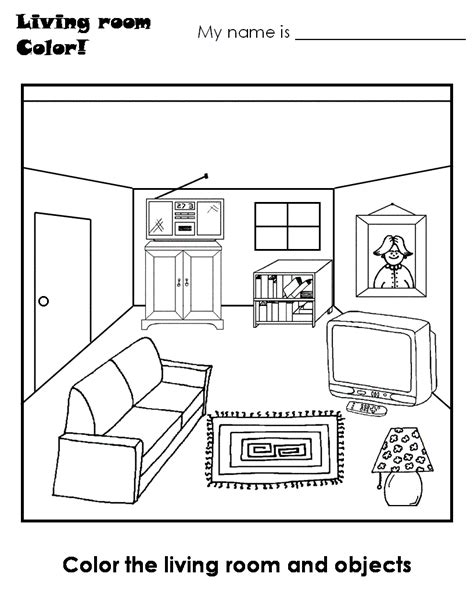 Drawing Room Colour Games by Pics Photos House Rooms Kids Coloring Pages Picture