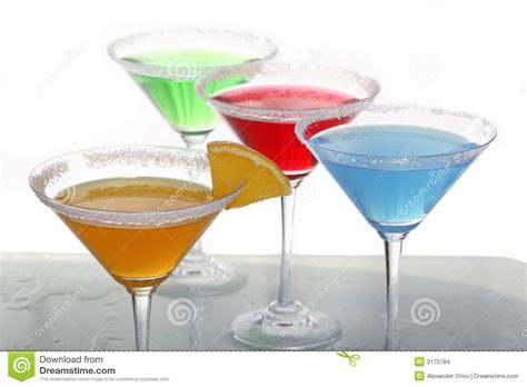 four colored cocktails 3 stock images image 3175784