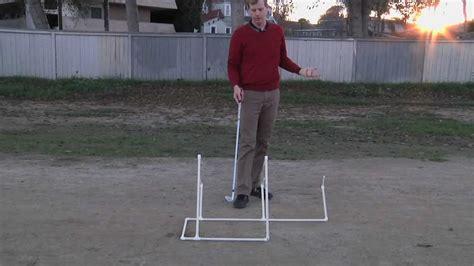 pvc swing trainer planefinder golf training aid diy youtube