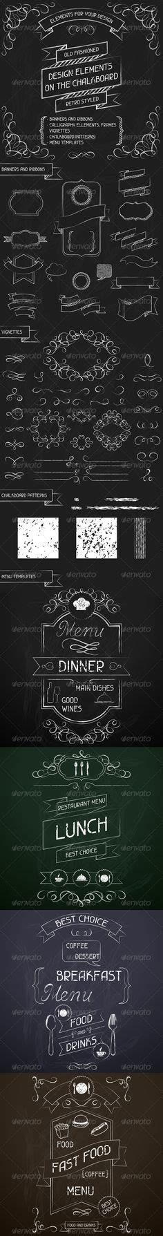 what are the features of a chalkboard background 30 hand drawn corner clipart chalk and black scrapbook