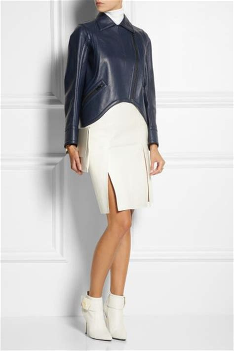 fendi leather pencil skirt in white lyst