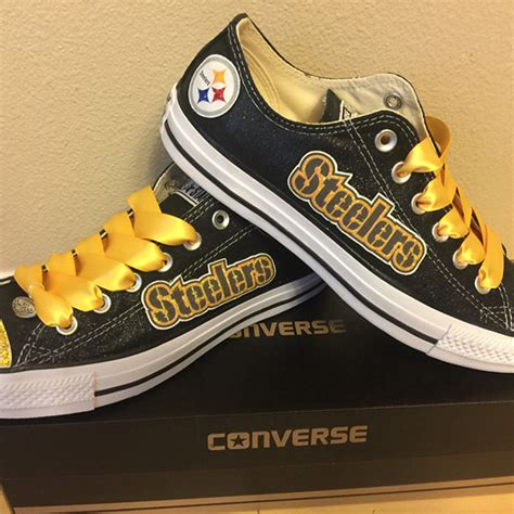 pittsburgh steelers sneakers pittsburgh steelers handmade converse pittsburgh steelers