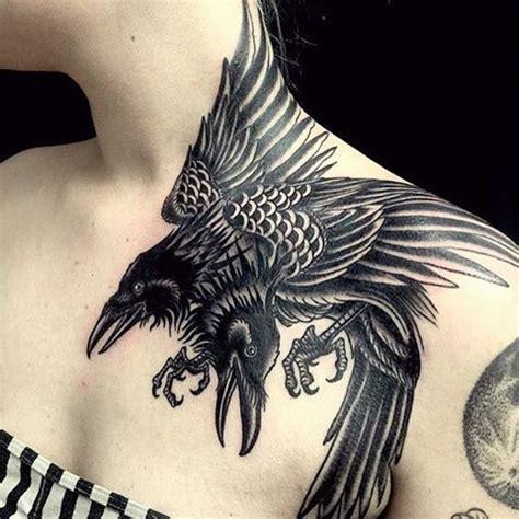 raven tattoo on neck best 25 crow tattoos ideas on pinterest raven tattoo