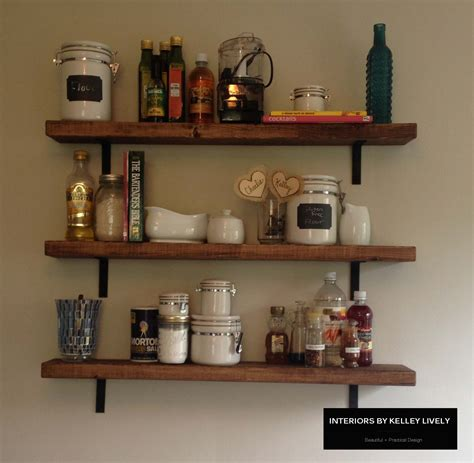 shelf kitchen diy rustic kitchen shelves interiors by kelley lively