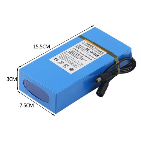 Ac Neuva 1 2 Pk dc 12v 15000mah li ion rechargeable battery pack ac charger au eu us be ebay