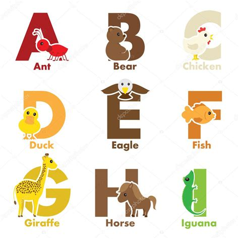 alphabet with animals stock vector alphabet animals stock vector 169 artisticco 14097643