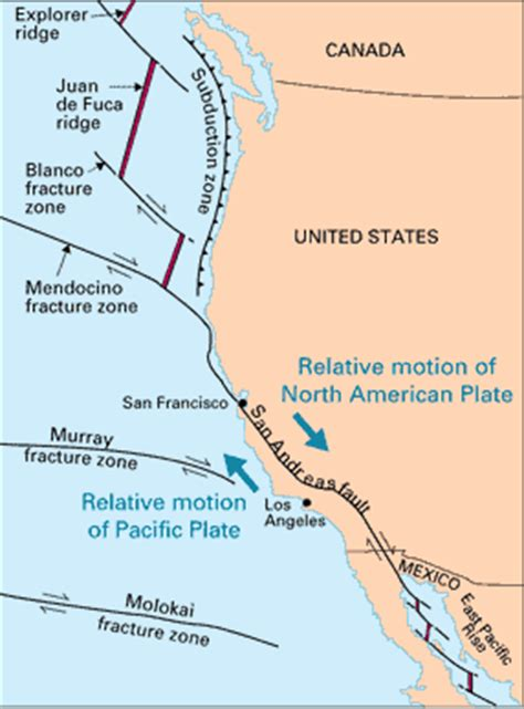 california tectonic plate map 11 california