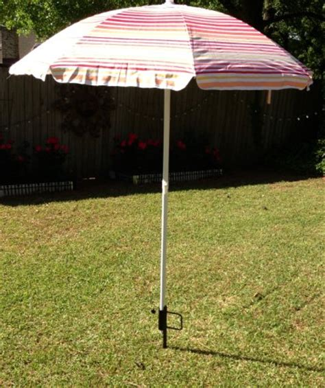 Outdoor beach umbrella stand  Great sand anchor, best wind
