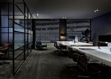 dark modern office space   architecture