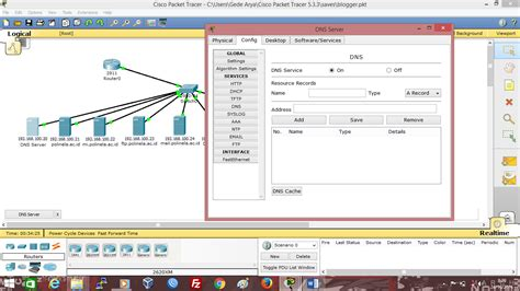 cara konfigurasi dns server di packet tracer cara setting dns server dan web server di cisco packet