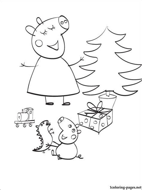 christmas colouring pages peppa pig peppa pig christmas coloring page coloring pages