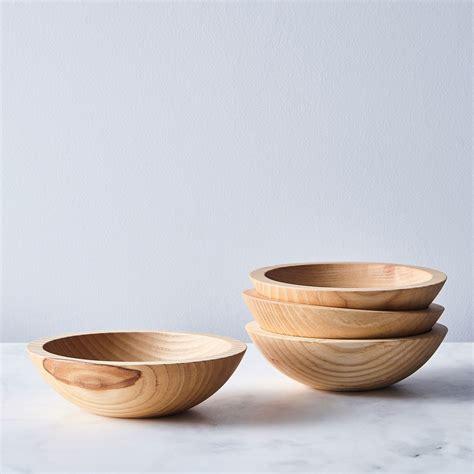 Handmade Wooden Salad Bowls - handcrafted wood salad bowls set of 4 on food52