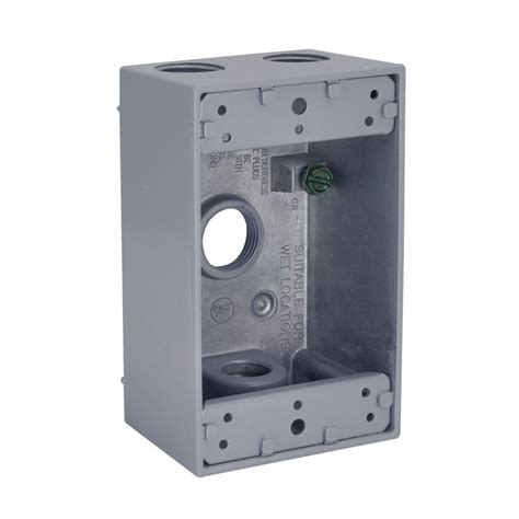 Box Bell C Polos bell 1 4 outlets 1 2 in threaded weatherproof box gray 5321 0b the home depot