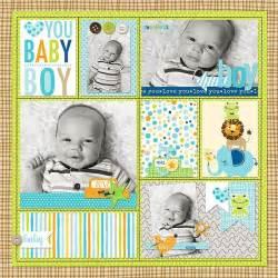 scrapbook layout ideas baby boy bella blvd cute baby boy digital collection baby boy