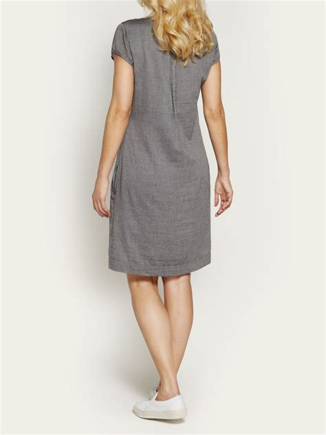 grey cotton dress sandwich cotton dress in gray grey lyst