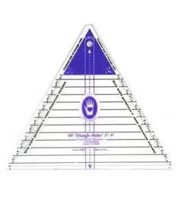 large 60 degree triangle ruler 3 9 finished side
