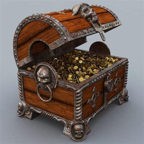 Max And Treasure Box by 3d Treasure Chest Model