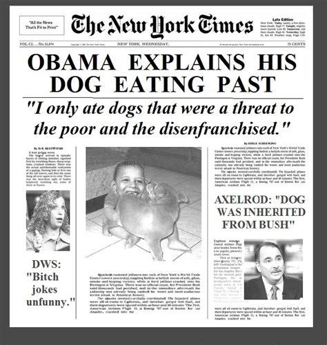 Obama Dog Meme - obama dog eating explained headline obama the eater of