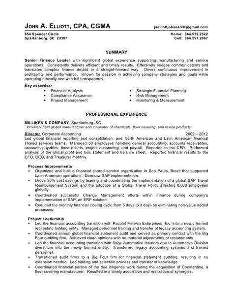 Sle Resumes 2012 by Big 4 Audit Manager Sle Resume 28 Images Sle Cover Letter For Senior Auditor Cover Letter