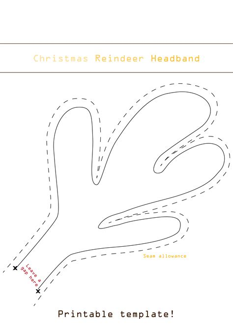 Rudolph Antlers Template easy diy reindeer headband for your baby