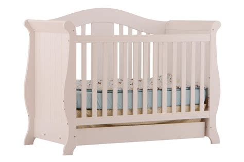 Convertible Crib Parts Storkcraft Vittoria 3 In 1 Fixed Side Convertible Crib White