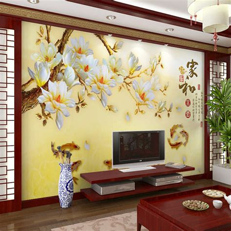 Modern Wall Murals by Modern Flower Wall Murals Large Mural Wallpaper