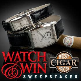 Watch And Win Sweepstakes - announcing the best cigar prices montecristo watch and win sweepstakes buy cigars
