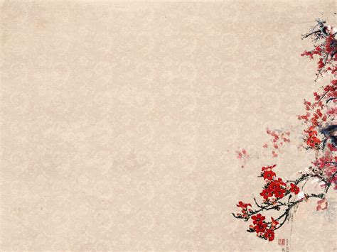 Free Plum Blossoms Flower Templates Backgrounds For Powerpoint Nature Ppt Templates Powerpoint Flower Template
