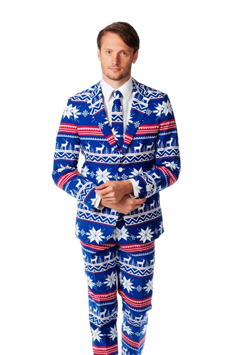 holiday suits inspired by ugly christmas sweaters