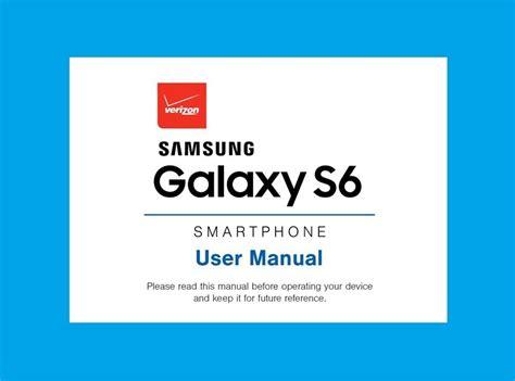 Samsung Galaxy S6 Tablet Manual by Samsung Galaxy S6 User Manual For Verizon Model Sm G920v Ebay