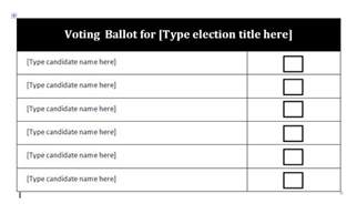 ballot paper template how to make a ballot sheet just b cause