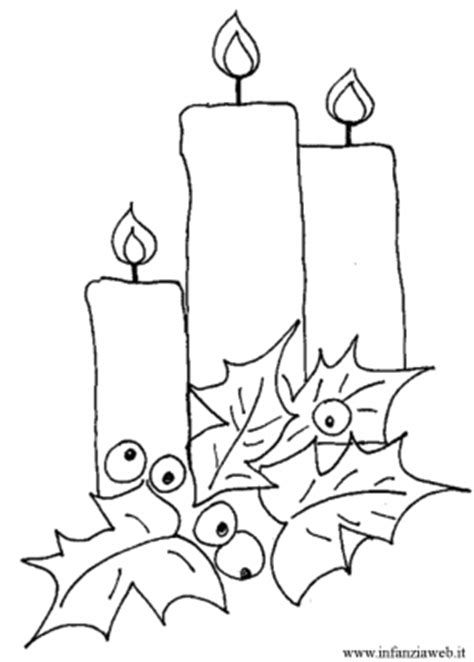 candele natalizie da colorare disegni da colorare categoria natale immagine