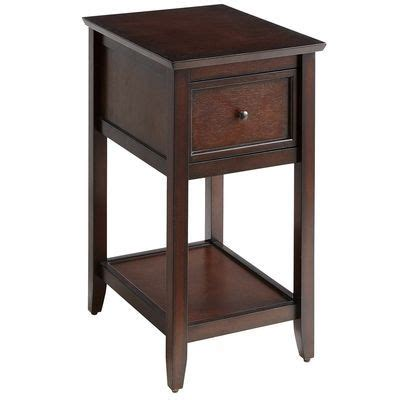 14 Inch Nightstand Mahogany Brown End Table Stands And L Bases