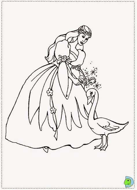 the swan princess coloring page az coloring pages