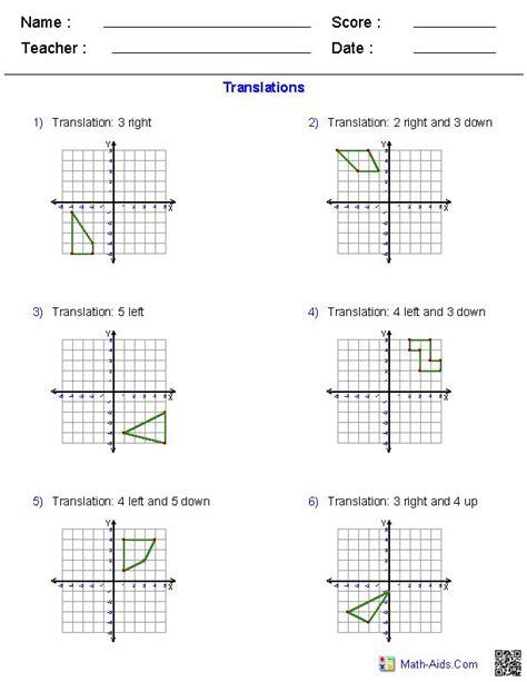 Rigid Transformations Worksheet by Worksheet Rotations Worksheet Caytailoc Free Printables