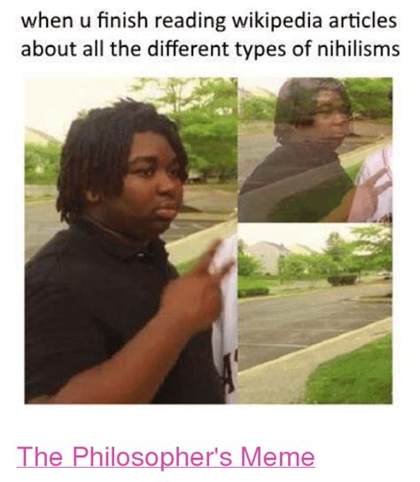 Different Types Of Memes - when u finish reading wikipedia articles about all the
