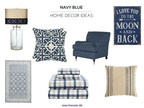 navy home decor navy blue home d 233 cor ideas you will the rustic