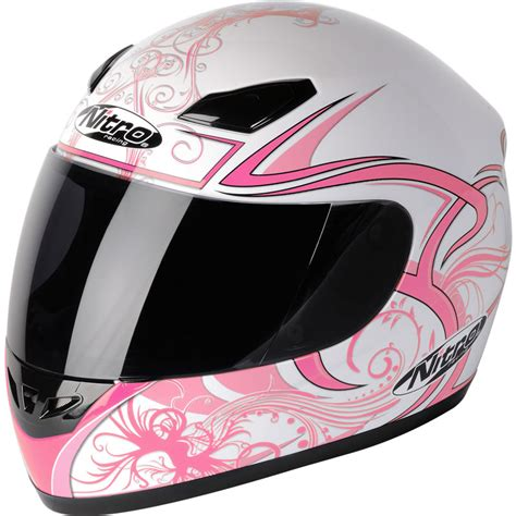 Motorradhelm Rosa by Nitro Dynamo Acu Gold Womens Racing