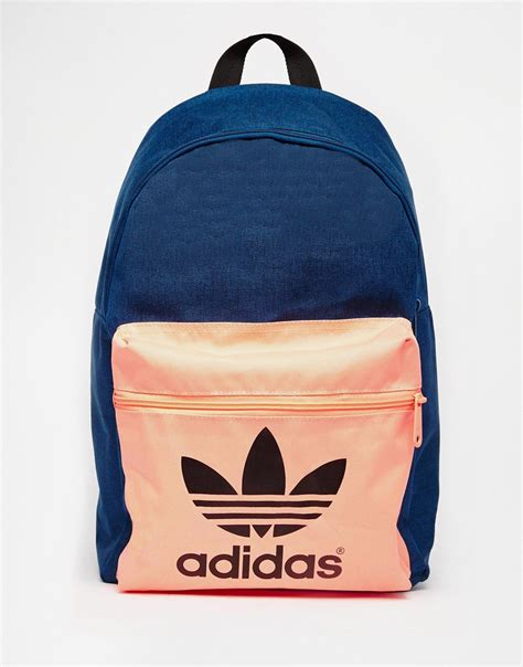 adidas backpack lyst adidas originals originals navy backpack with
