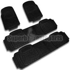 Suv Rubber Floor Mats 4pc heavy duty all weather season rubber floor mats front